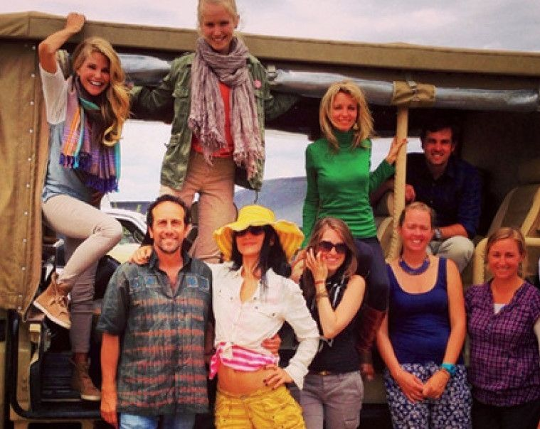 On Safari with Christie Brinkley, Sailor Brinkley, Bai Ling and others in Kenya.