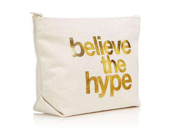"<i>Buy it from <a href=""https://www.bloomingdales.com/shop/product/dogeared-believe-the-hype-cosmetics-case-100-exclusive?ID="