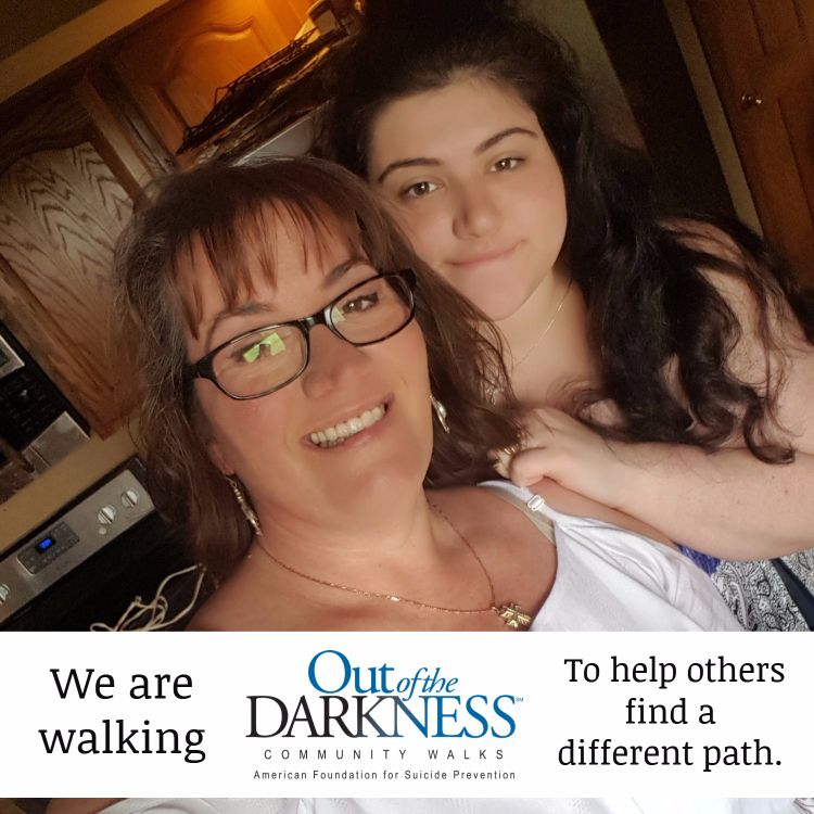 My Mom and I before an Out of The Darkness Walk.