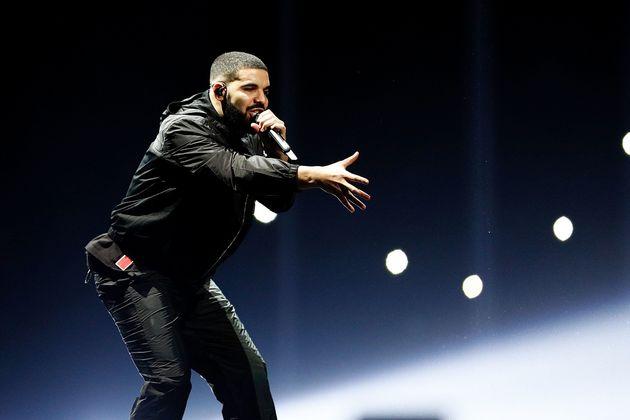 Drake performing in Australia last