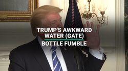 Trump's Awkward Water (Gate) Bottle