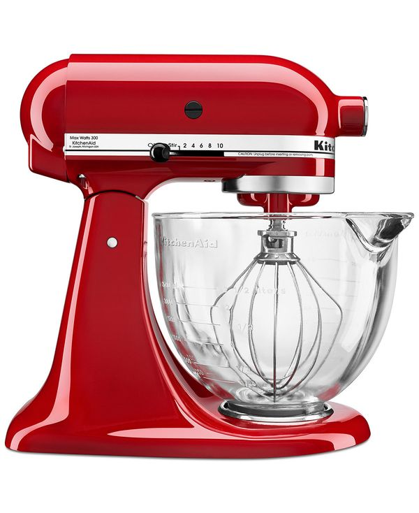 3 Macy S Kitchenaid 5 Qt Stand Mixer With Gl Bowl Flex Edge Beater