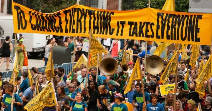A photo from the People's Climate March in 2014.