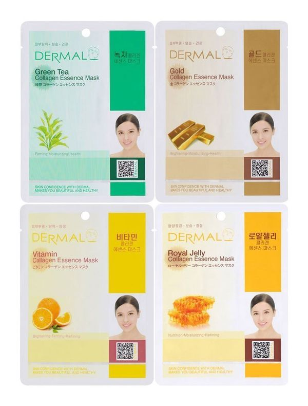 These collagen essence masks by Dermal Korea come in a combo pack with 16 different types. They're super moisturizing and, in