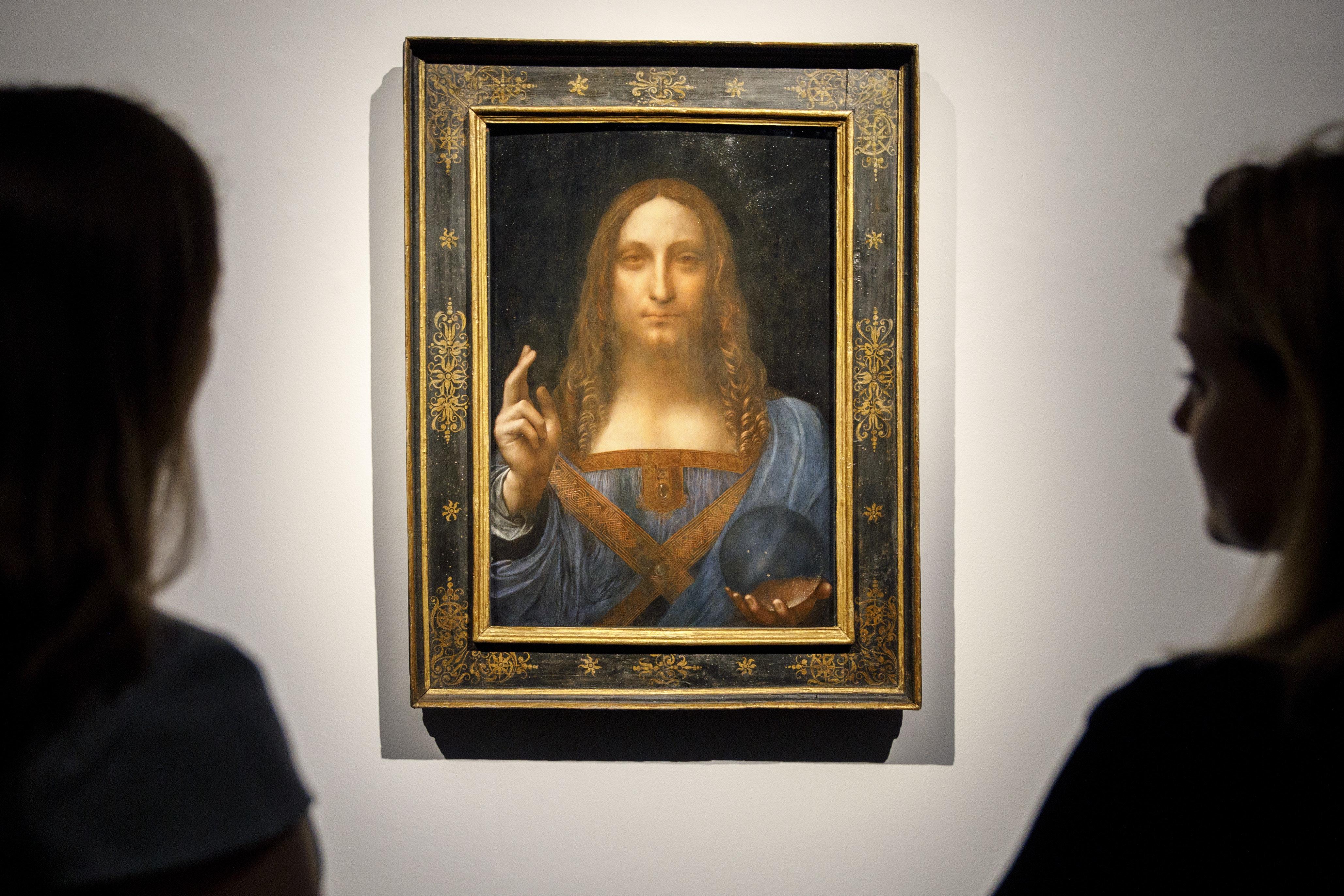 """Salvator Mundi"" is a portrait of Christ that's been attributed to Leonardo da Vinci circa 1500."