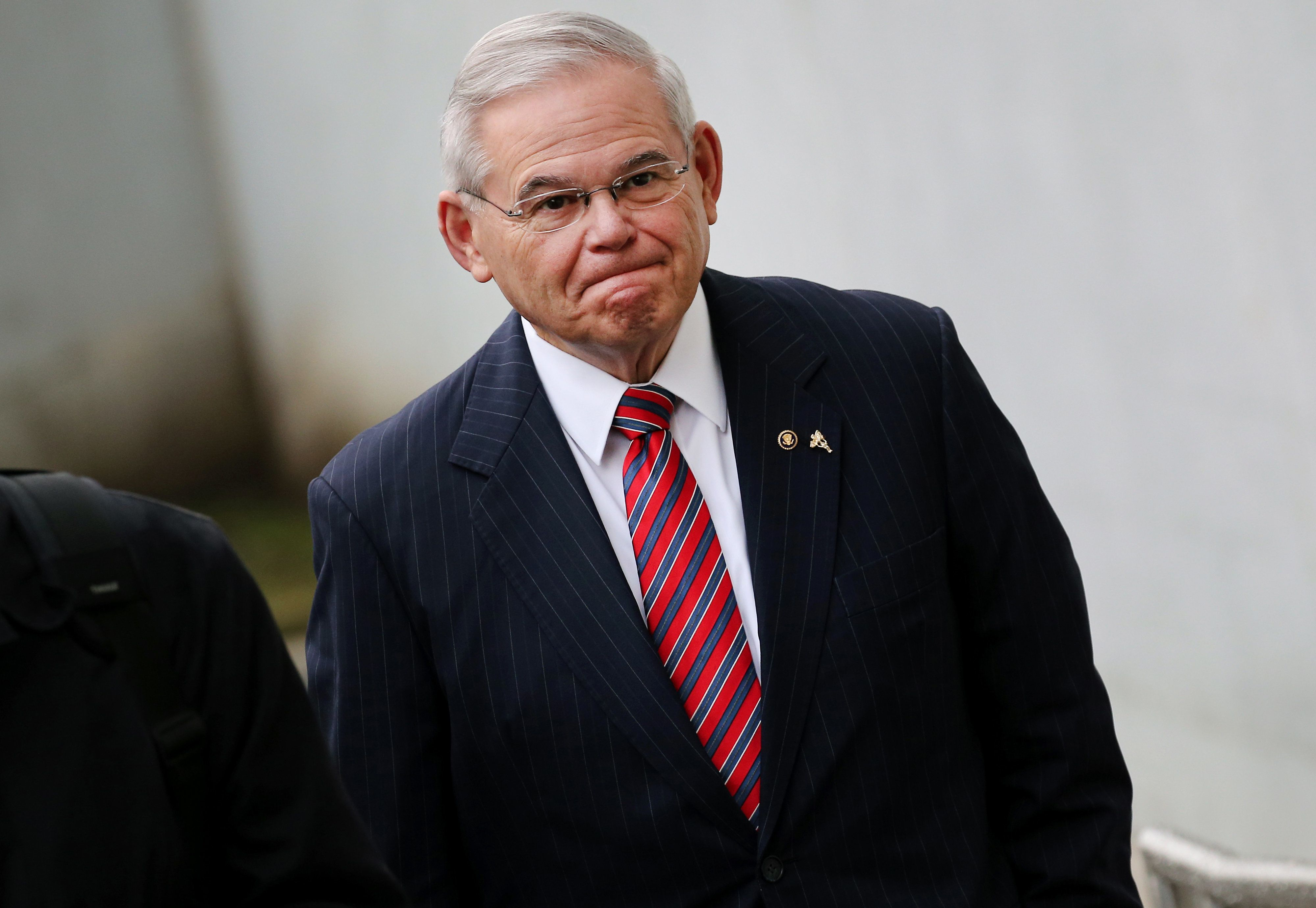 Senator Robert Menendez, a Democrat from New Jersey, arrives at federal court in Newark, New Jersey, U.S., on Thursday, Nov. 16 2017. Jurors at the bribery trial of Menendez failed again to reach a verdict during their sixth full day of deliberations before returning bleary-eyed to the courtroom where the judge sent them home. Photographer: Peter Foley/Bloomberg via Getty Images