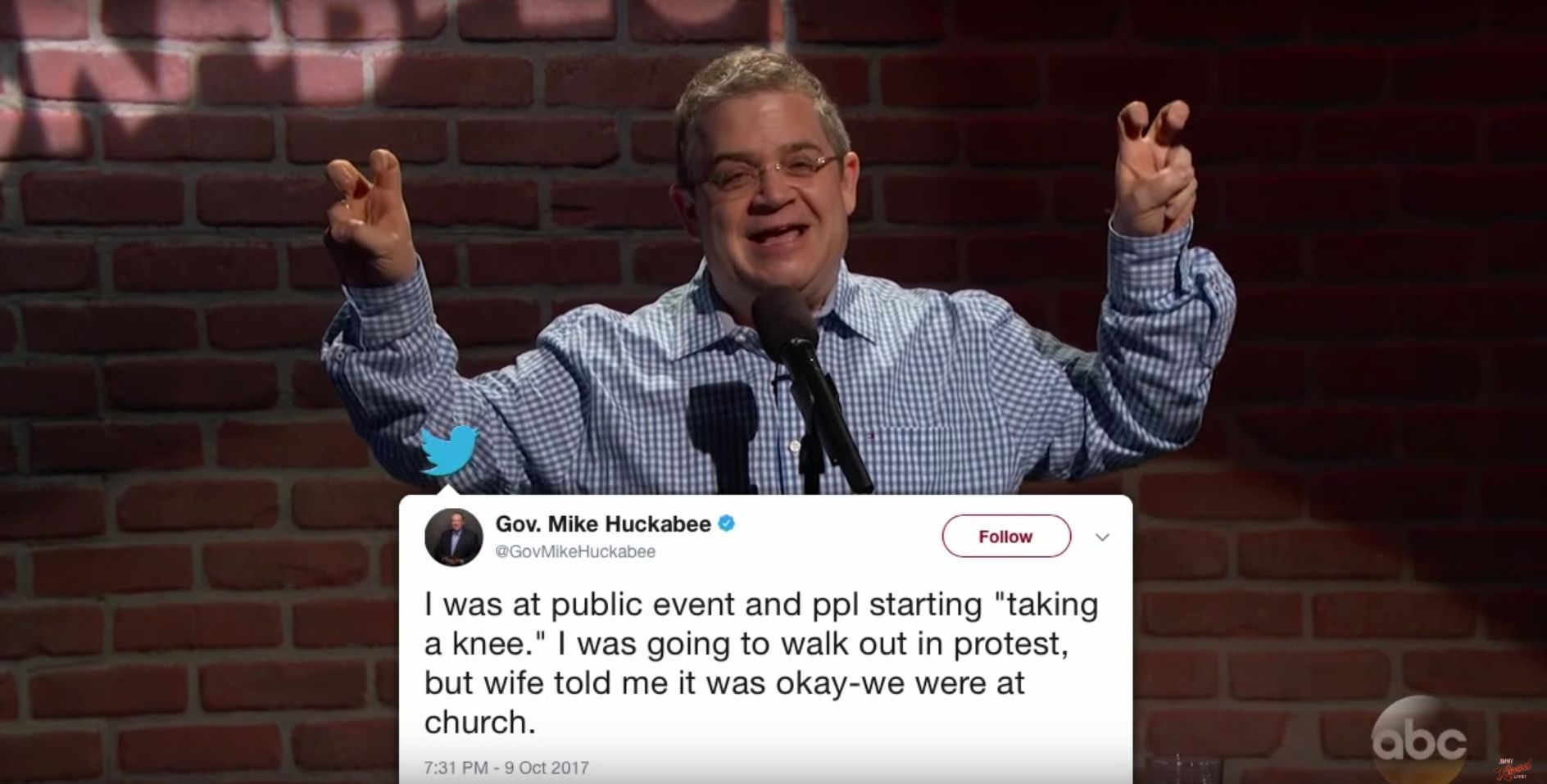 Patton Oswalt Tries Again To Perform Mike Huckabee's Awful Twitter Jokes