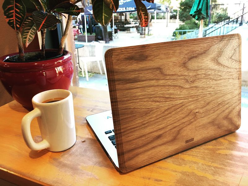 <em>Toast laptop covers fit like a glove and are made from reclaimed wood and bamboo.</em>