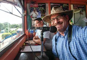 <em>Rocking my Real Deal Brazil hat, in the baseball stadium in Rivas, Nicaragua.</em>