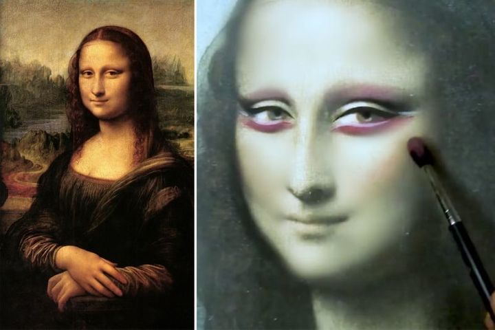a makeup artist gave mona lisa a makeover for 2017 and people