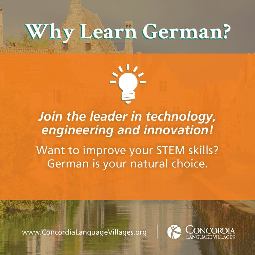 <strong>Students interested in STEM fields can accelerate their learning by studying German in school and/or a few weeks