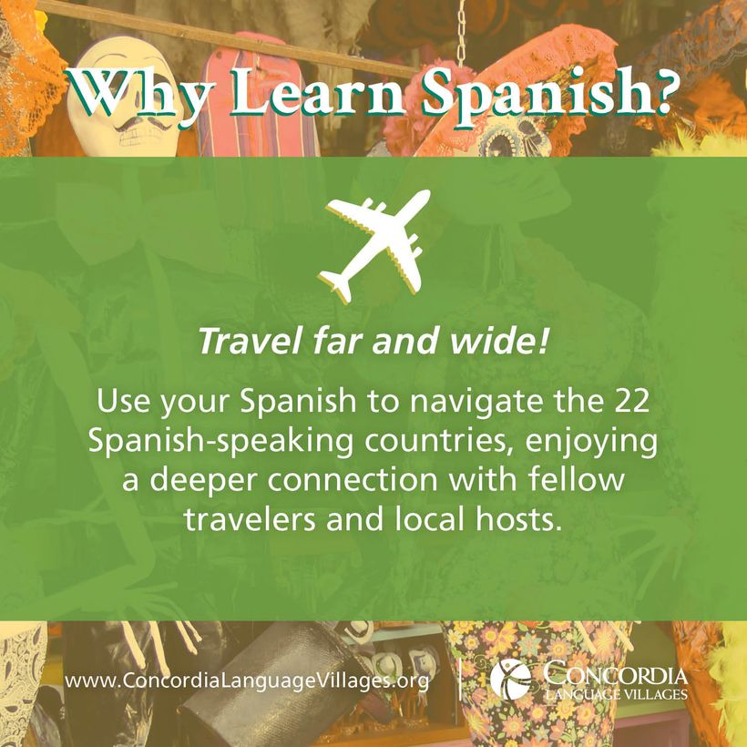 <strong>Spanish is one of the 15 languages Concordia Language Villages offers in full immersion setting to youth, families an