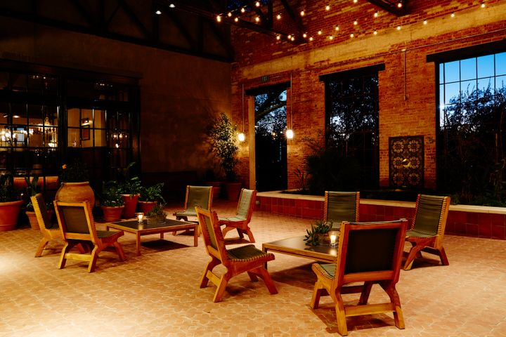 <p>Outdoor courtyard invites stargazing and mingling among guests.</p>