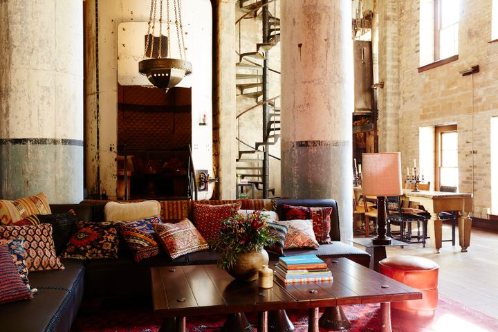<p>Old tanks repurposed as seating nooks in Sternewirth.</p>