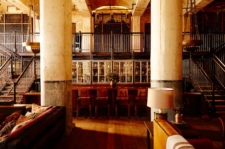<p>The steel mezzanine and bar at Sternewirth are the heart of the vibrant restaurant.</p>