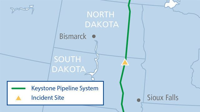 Keystone Pipeline Leaks 5,000 Barrels Of Oil In South Dakota, TransCanada Says images 0