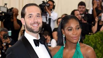 NEW YORK, NY - MAY 01:  Alexis Ohanian (L) and Serena Williams attend the 'Rei Kawakubo/Comme des Garcons: Art Of The In-Between' Costume Institute Gala at Metropolitan Museum of Art on May 1, 2017 in New York City.  (Photo by Dimitrios Kambouris/Getty Images)