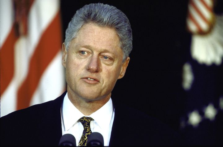 In a 1998 news conference in the White House Rose Garden, President Bill Clinton apologized for his sexual relationship with