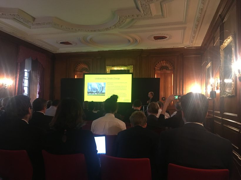 Presenting at the Insurance & Climate Risk conference in London