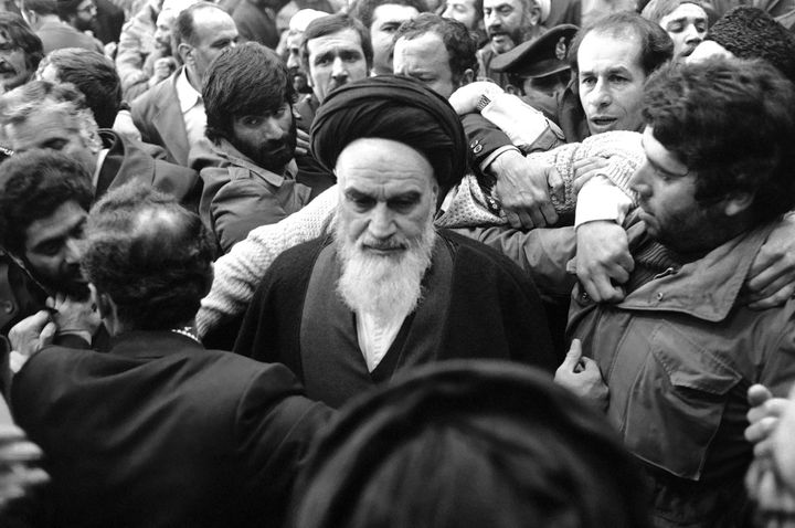 Ayatollah Khomeini was mobbed when he returned to Iran from exile following the 1979 revolution that overthrew the Shah. Shor