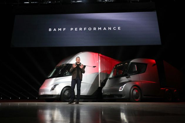 Tesla Semi Is An Electric Truck That Has A 500 Mile Range And Can Drive