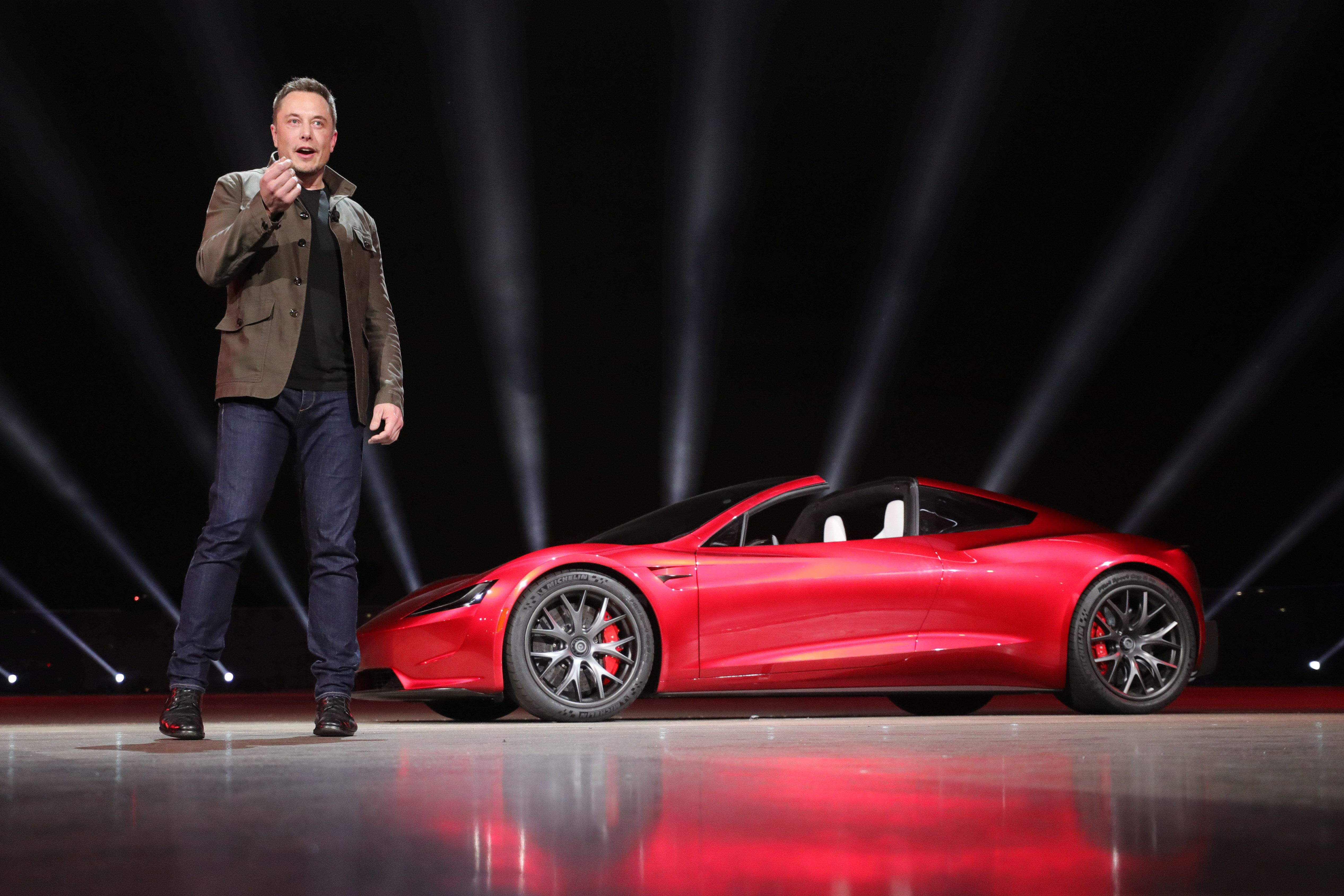 Elon Musk Teases Idea Of Tesla's Insane Roadster Becoming A Flying