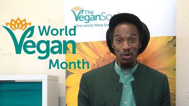Poet and musician Benjamin Zephaniah promoting World Vegan Month. He's also an ambassador for The Vegan