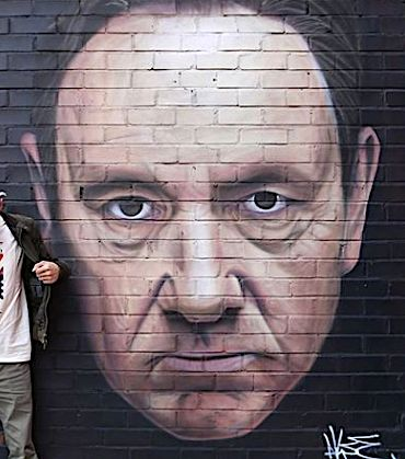 Street Art Mural Of Kevin Spacey Will Soon Be