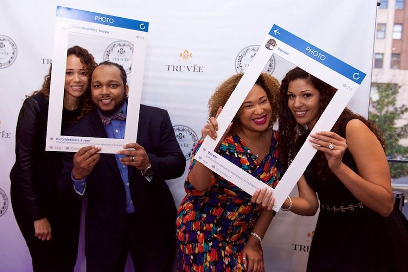Candice Nicole with Tommie  Collins, event partner, along with the owners of Truvee Wines for the Washington, D.C. launch.