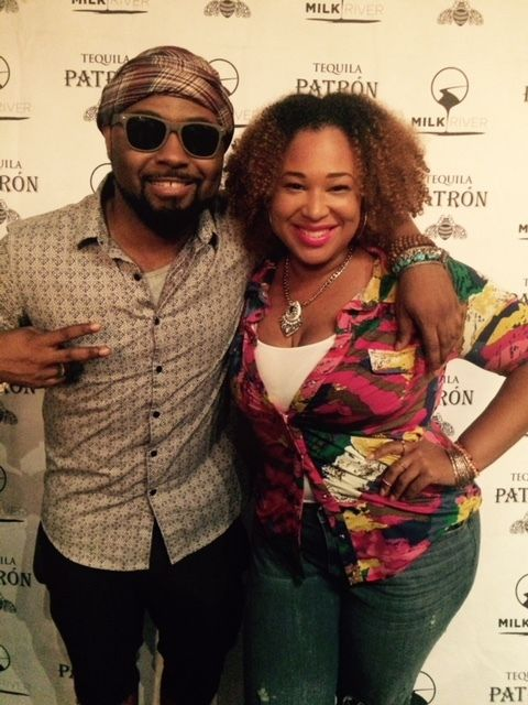 Candice Nicole with recording artist and former client, Musiq Soulchild
