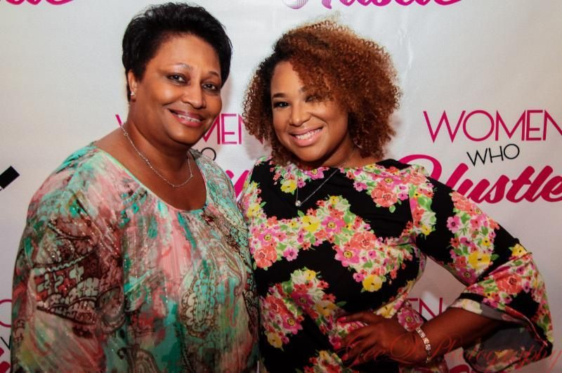 Candice Nicole with her mother, Donna Mackel at the Women Who Hustle launch event in Washington, D.C.