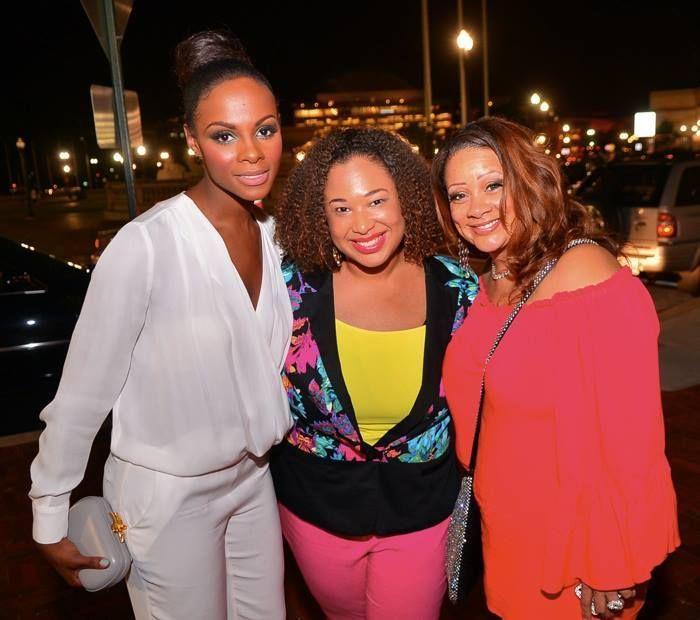 "Candice Nicole (c) with Tika Sumpter (l) and Patrice Love (r) after the Washington, D.C. press run of Tyler Perry's ""The Have"