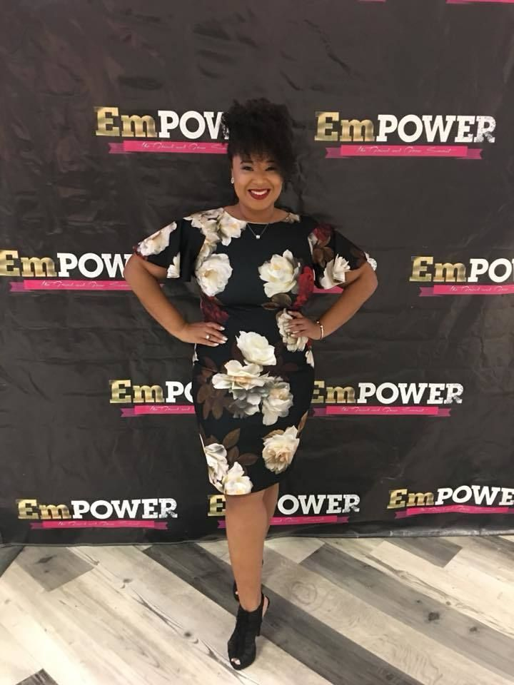 Candice Nicole at EmPOWER Indy, where she delivered the Keynote Speech in Indianapolis, Indiana