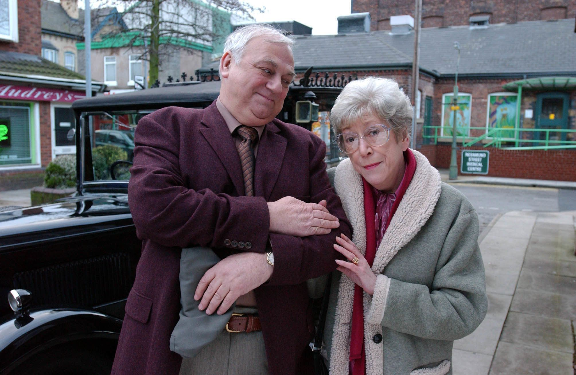 Arnie Shuttleworth and Blanche Hunt (Roy Hudd and Maggie