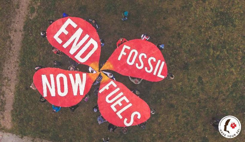 Pacific Climate Warriors joined activists from across Europe at a protest at Germany's largest coal mines the weekend before