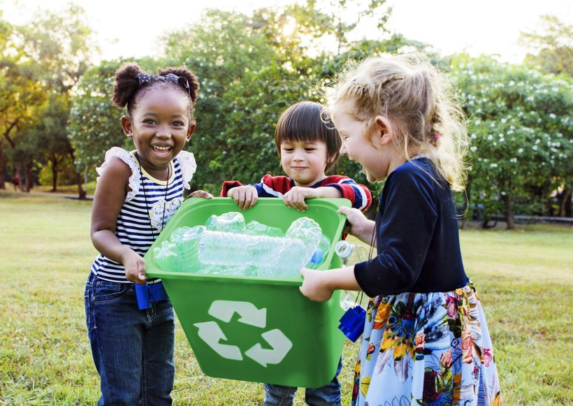 Children Recycling