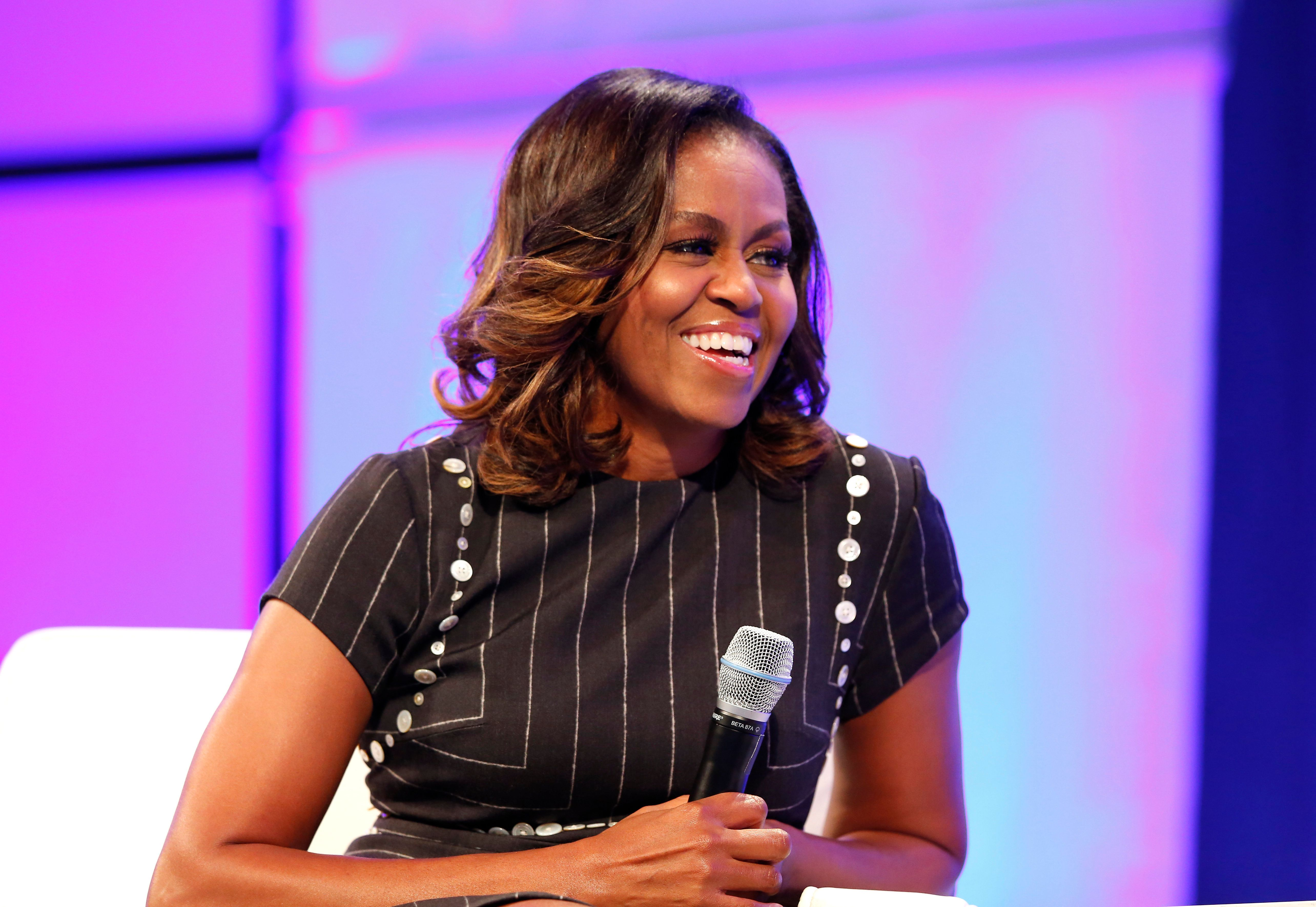PHILADELPHIA, PA - OCTOBER 03:  Former First Lady of the United States Michelle Obama speaks during Pennsylvania Conference For Women 2017 at Pennsylvania Convention Center on October 3, 2017 in Philadelphia, Pennsylvania.  (Photo by Marla Aufmuth/Getty Images for Pennsylvania Conference for Women)