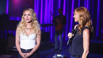 NASHVILLE - 'Don't Open That Door' - In advance of a benefit concert starring all of Edgehill's best acts, label head Jeff Fordham (Oliver Hudson) demands that his new artists sell themselves as hot, sexy personas-which is a major struggle for Scarlett, and Layla knows it. Since Rayna is unsure about her future as a singer, she plots to buy out Edgehill's rights to her music, and Gunnar and Avery decide to record new songs with Zoey, Scarlett's best friend. However, by the end of the concert night, nothing will be the same, on 'Nashville,' WEDNESDAY, OCTOBER 23 (10:00-11:00 p.m., ET) on the ABC Television Network. (Photo by Mark Levine/ABC via Getty Images) HAYDEN PANETTIERE, CONNIE BRITTON