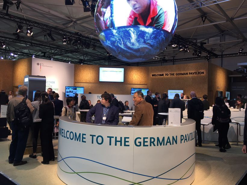 German Pavilion at COP23 in Bonn.