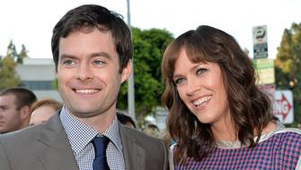 WESTWOOD, CA - JULY 23:  Actor Bill Hader (L) and Writer/director Maggie Carey attend the premiere of CBS Films' 'The To Do List' on July 23, 2013 in Westwood, California.  (Photo by Alberto E. Rodriguez/Getty Images)