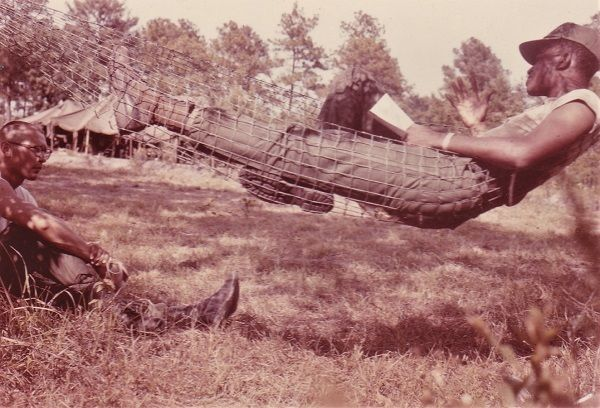 The real job of an OCS Tactical Officer- Counseling his Officer Candidates, Ft Benning, 1968.