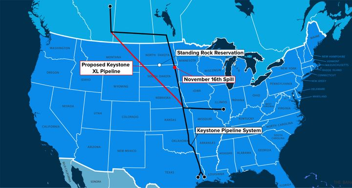 Keystone XL would carry tar sands oil from Canada through Montana and South Dakota to Nebraska, where the conduit would