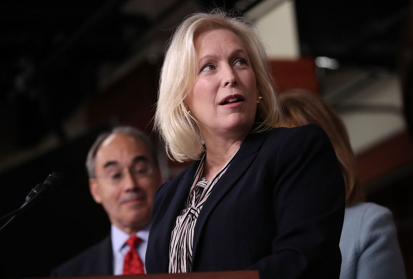 Sen. Kirsten Gillibrand (D-NY) has the highest percentage of contributions from women among candidates running this cycle