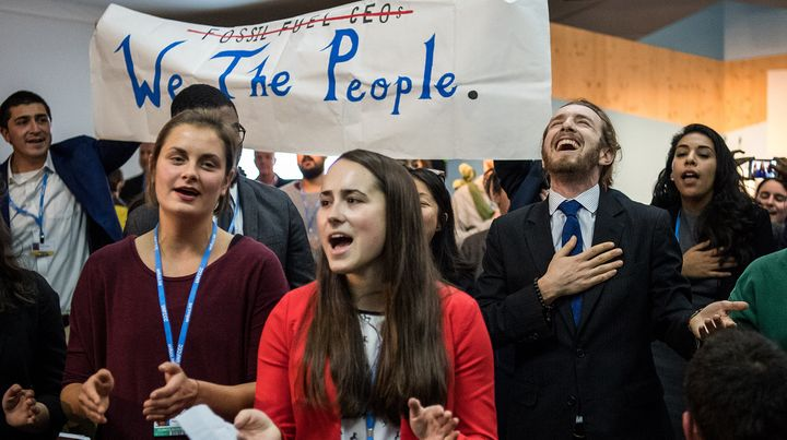 <p>'<em>And we proudly stand up, Until you keep it in the ground....</em>'</p><p>Young protesters disrupting White House panel at COP23</p>
