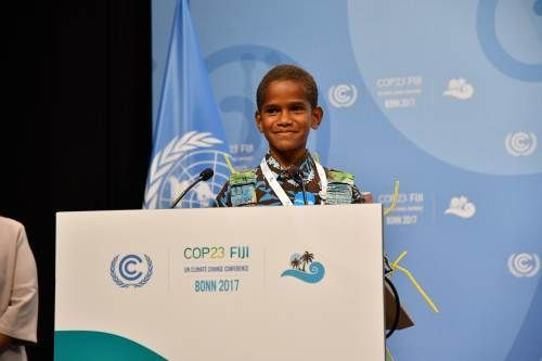 Timoci Naulusala of Naivicula village in Wainibuka, Tailevu opened the high level segment of COP23, November 15th