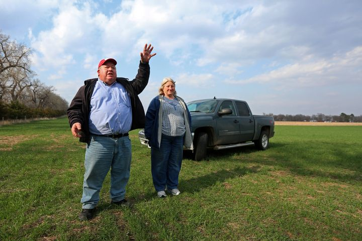 Art and Helen Tanderup at their farm in Neligh, Nebraska. The farm has been in Helen Tanderup's family for more than 100