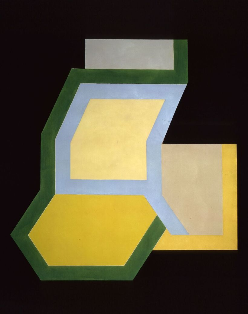 Frank Stella,  Sunapee II, 1966 Alkyd and epoxy paint on canvas Private Collection, NY © 2017 Frank Stella / Artists Rig