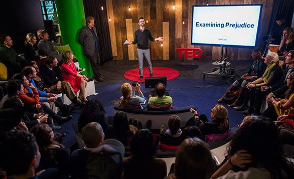 I hosted a session of talks in the TED office on prejudice back in 2014. Photo: Ryan Lash