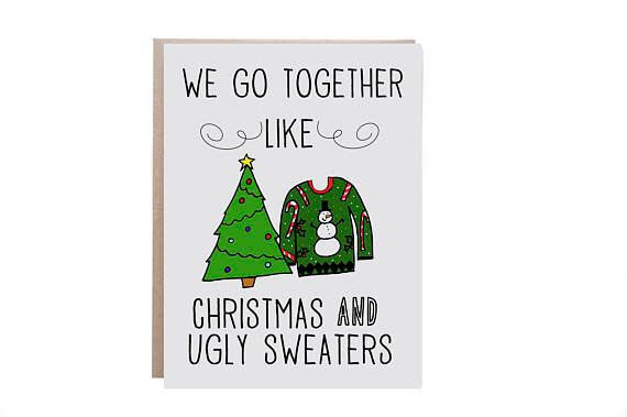 "<i>Buy it from <a href=""https://www.etsy.com/listing/477709468/funny-christmas-card-ugly-christmas"" target=""_blank"">WaterStre"