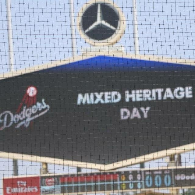 Mixed Heritage Day welcome via LA Dodgers Jumbo tron